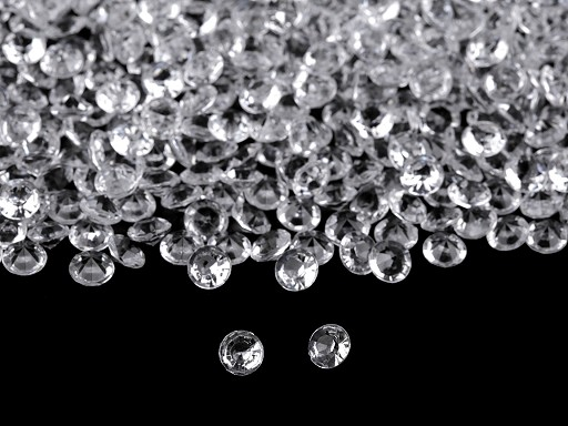 Clear Acrylic Decorative Gems Ø6 mm