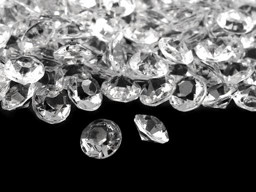 Dekorační diamanty Ø6 mm
