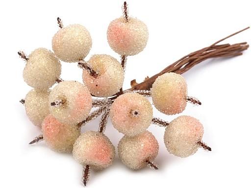 Umělé jablko ojíněné k aranžování Ø20 mm