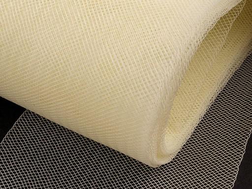 Modistická krinolína na výrobu dekorací, fascinátorů a vyztužení šatů šíře 8 cm