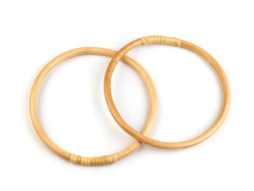 Bambusová ucha na tašky / lapač snů Ø15; 17 cm