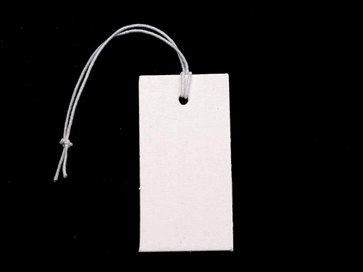 Paper Price Tags 18x36 mm with elastic string