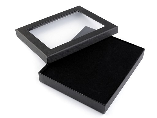 Pudełko z okienkiem wyściełane 3x16x19 cm