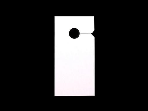 Zawieszki 30x60mm do zamków błyskawicznych papierowe