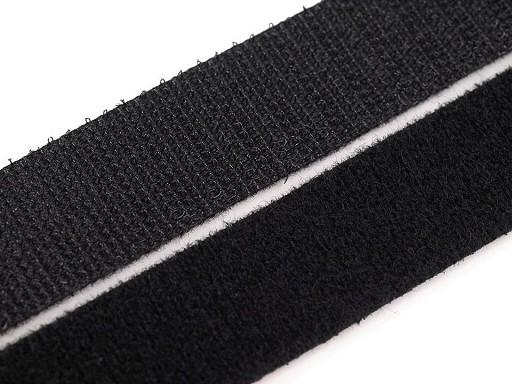 Suchý zip šíře 20 mm černý oboustranný