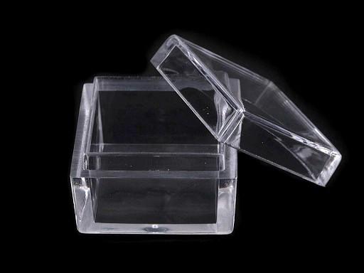 Plastová dóza mini 2,5x2,5x1,5 cm čtverec