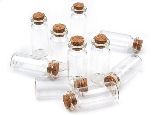 Buteleczka szklana 20x50 mm z korkiem