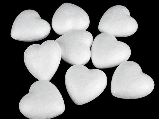 Srdce 4,4x4,7 cm polystyren