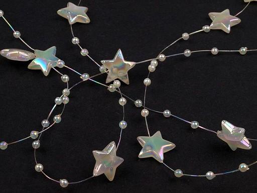 Beaded Garland / Beads on nylon string - stars
