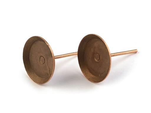 Fülbevaló alap bedugós Ø10 mm