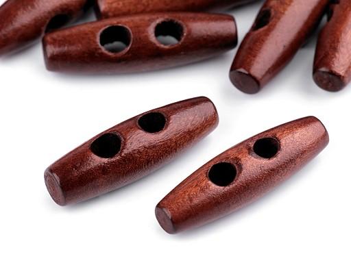 Knoflík dřevěný oliva 12x40 mm