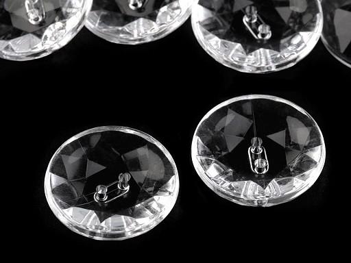 """Gombík Crystal priehľadný veľkosť 40"""""""