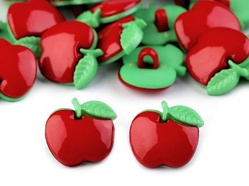 """Knoflík dětský velikost 28"""" jablko"""