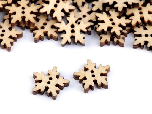 Holzknöpfe dekorativ Schneeflocken
