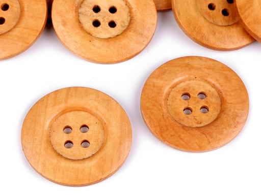 Dřevěný dekorační knoflík čtyřdírkový