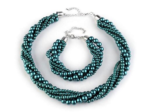 Perlový náhrdelník a náramek