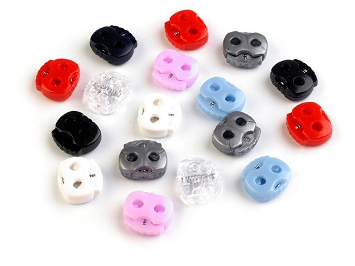 Small 2-hole Cord Lock Stopper Toggles 15x15 mm
