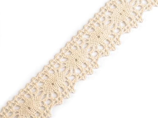 Klöppelspitze  aus Baumwolle Breite 32 mm