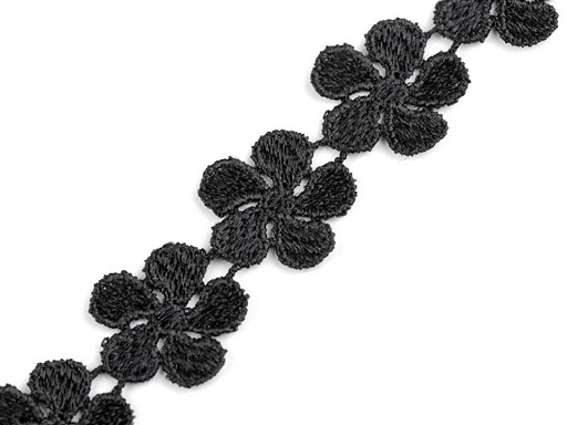 Vzdušná krajka / vsadka šíře 24 mm květy