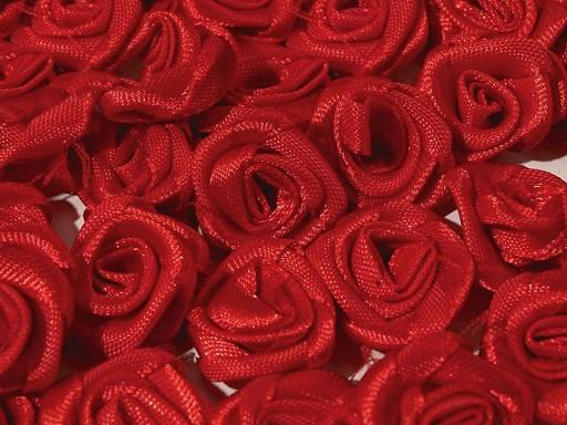 Saténová růžička Ø13-15 mm