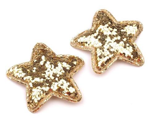Vánoční hvězda Ø35 mm s flitry