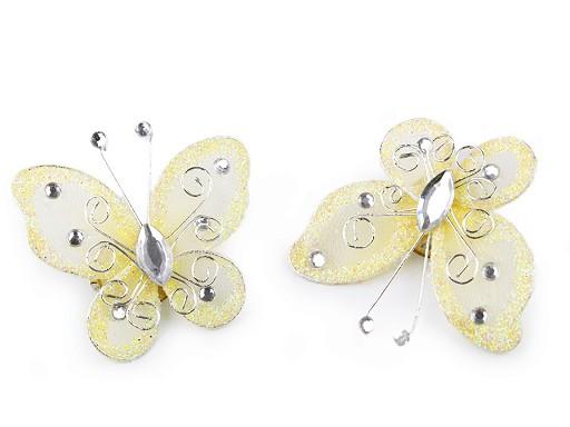 Motýl s kamínky 5x5,5 cm