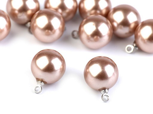 Perla s očkem / knoflík Ø11 mm