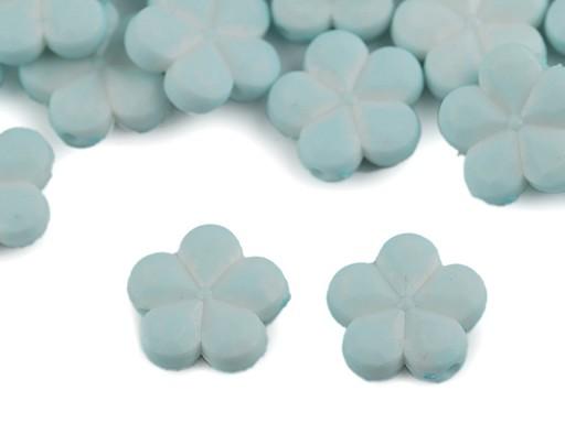 Dekorační plastový květ / korálek Ø14 mm