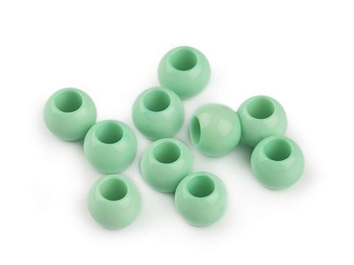 Plastové korálky s velkým průvlekem 9x12 mm