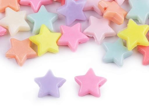 Plastové korálky hvězda, srdce, květ 20 g
