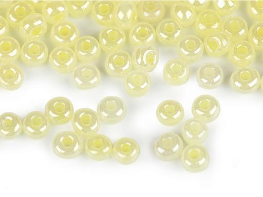 Rokail -  koraliki szklane 6/0 - 4 mm perłowe, nieprzezroczyste