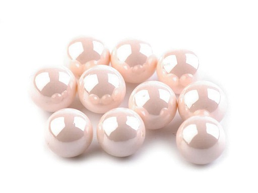 Dekorační kuličky / perly bez dírek Ø8 mm lesklé