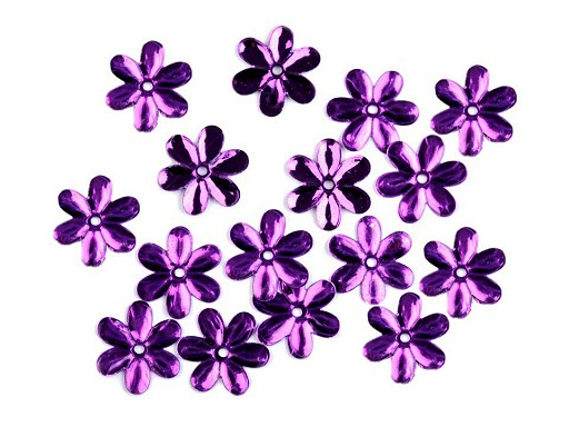 Flitre Ø15 mm kvety lesklé