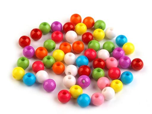 Plastové korálky Color mix Ø7 mm