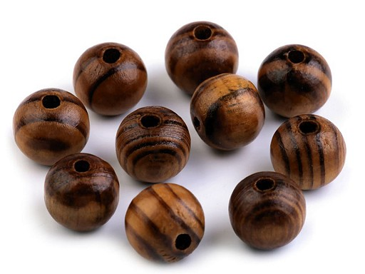Koraliki drewniane Strip Ø16 mm