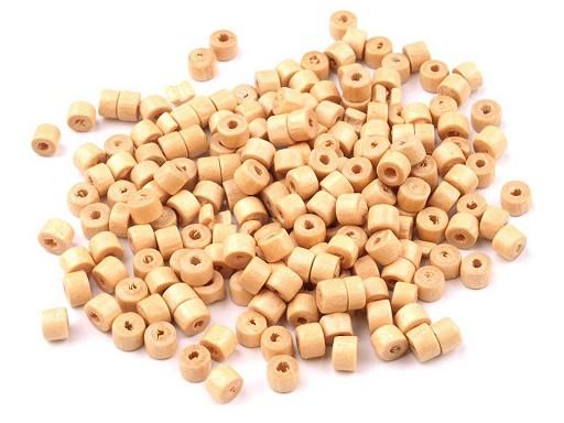 Dřevěné korálky váleček 3x4 mm