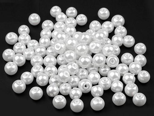 Szklane woskowane perły Ø6 mm