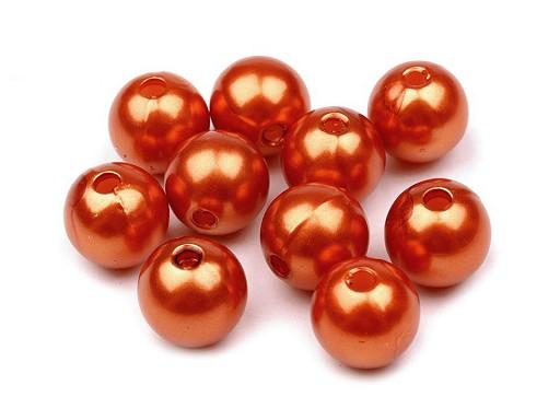 Plastové voskové korálky / perly Glance Ø10 mm