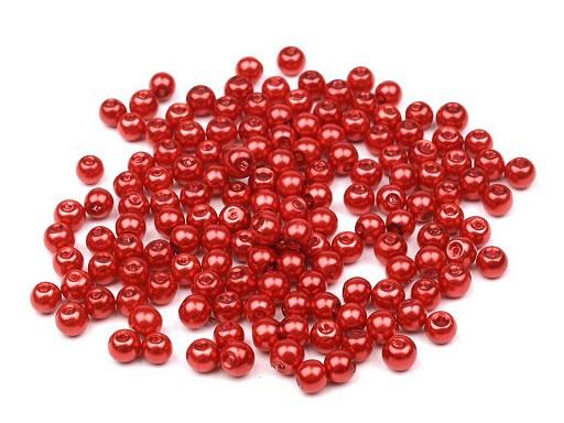 Perle sticlă lucioase, Ø4 mm