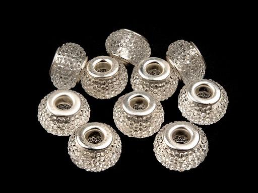 Plastové broušené korálky s velkým průvlekem 9x14 mm