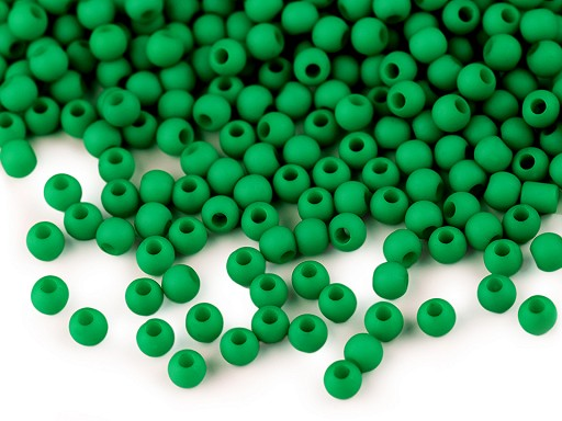 Plastové korálky matné Ø4 mm