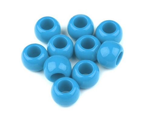 Plastové korálky s velkým průvlekem 11x14 mm