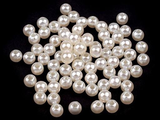 Plastové voskové korálky / perly Glance Ø5 mm