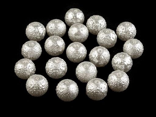 Skleněné voskové perly vroubkované Ø10 mm