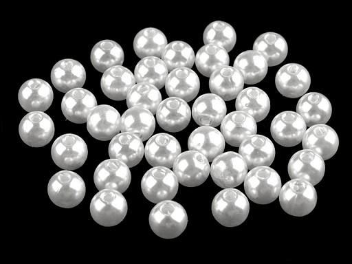 Plastové voskové koráliky / perly Glance Ø8 mm