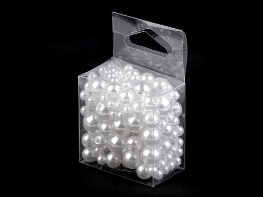 Plastové voskové korálky / perly Glance mix velikostí