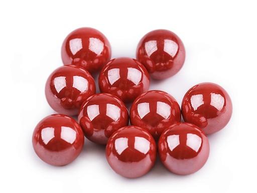 Dekorační kuličky / perly bez dírek Ø10 mm lesklé