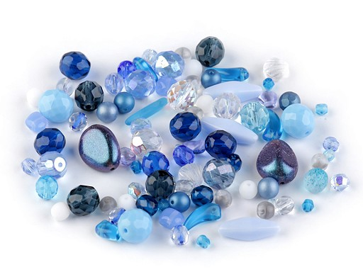 Koraliki szklane mix szlifowane