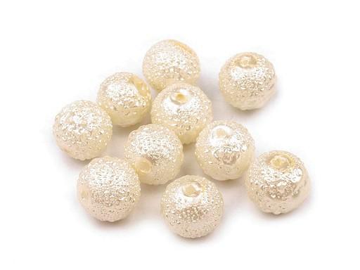 Szklane woskowane perły żebrowane Ø8 mm