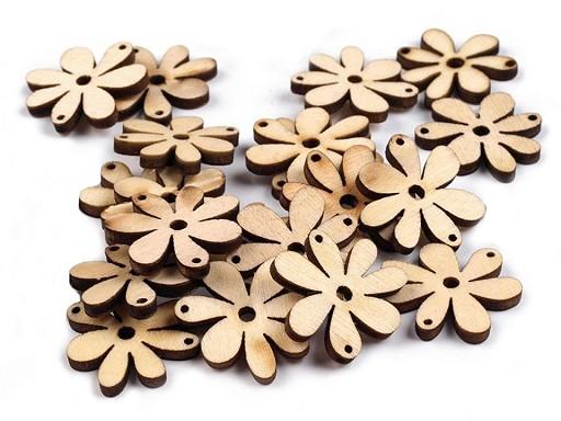 Dřevěný květ 20x25 mm